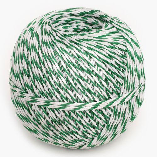 Küchengarn grün/weiß 200 m | Rolle