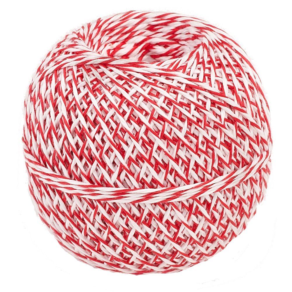 Küchengarn rot/weiß 200 m | Rolle